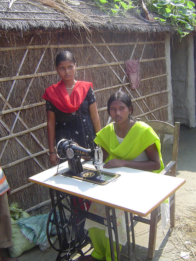 Sewing is taught on treadle machines.