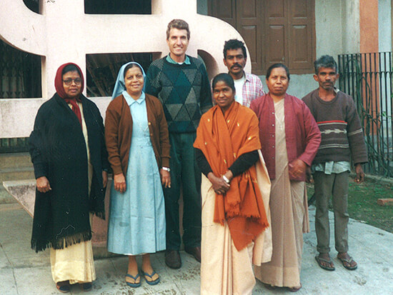 2000: Robert Coenraads with Sr. Crescence and staff
